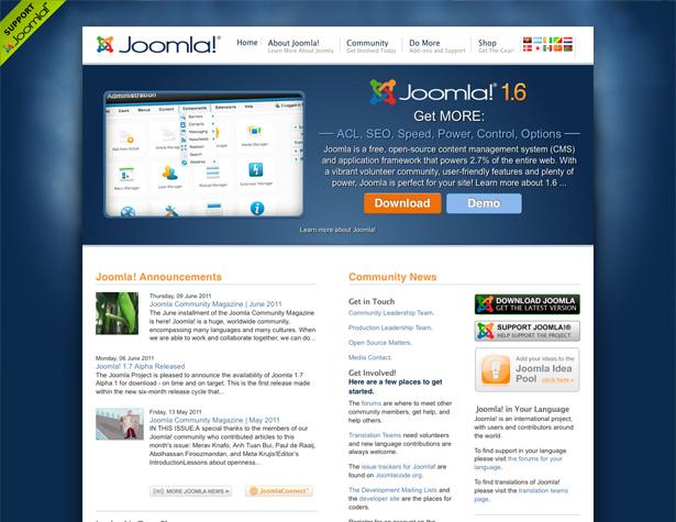 سیستم مدیریت محتوا - جوملا - JOOMLA