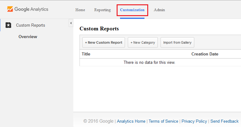 Custom Report In GA-01